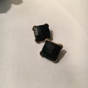 Black and gold square studs